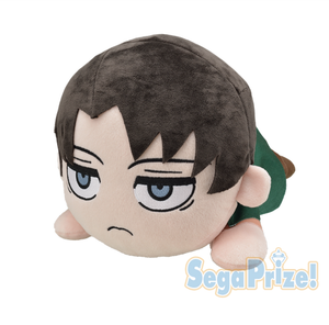Sega Attack on Titan Mega Jumbo Nesoberi Levi Ackerman Stuffed Plush