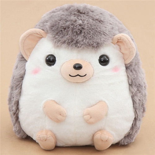Amuse Big light cream taupe hedgehog Harin the Hedeghog plush toy Japan