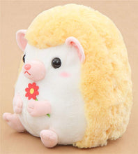 Load image into Gallery viewer, Amuse Big light cream yellow hedgehog Harin the Hedeghog plush toy Japan