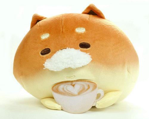Furyu Big Yeast Ken Mustache Cafe Dog Plush (Shibakoppe)