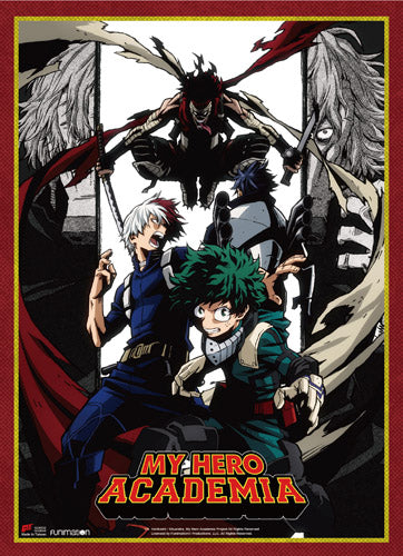 My Hero Academia  - Stain, Todoroki, and Midoriya Wall Scroll