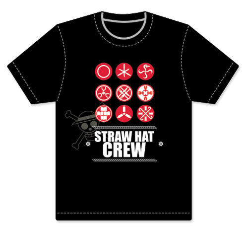 One Piece - Straw Hat Crew Symbols Men's T- Shirt