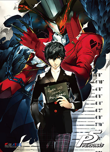 PERSONA 5 - PROTAGONIST & ARSENE WALL SCROLL