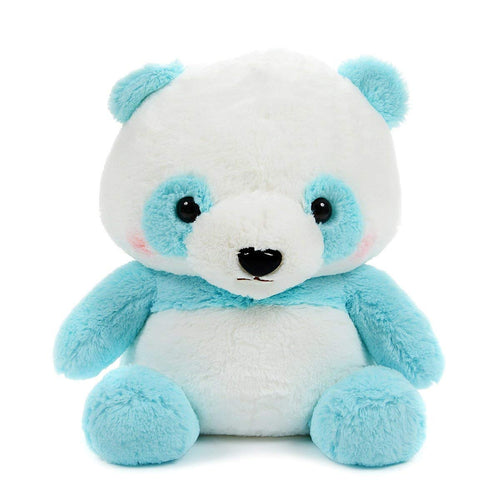 Amuse Panda Bear Plush Cute Stuffed Animal Toy Big Size Blue White
