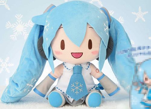 Sega Vocaloid Hatsune Miku Special Fluffy Plush Toy Snow MIKU 2010