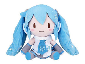 Sega Vocaloid Hatsune Miku Special Fluffy Plush Toy Snow MIKU 2011