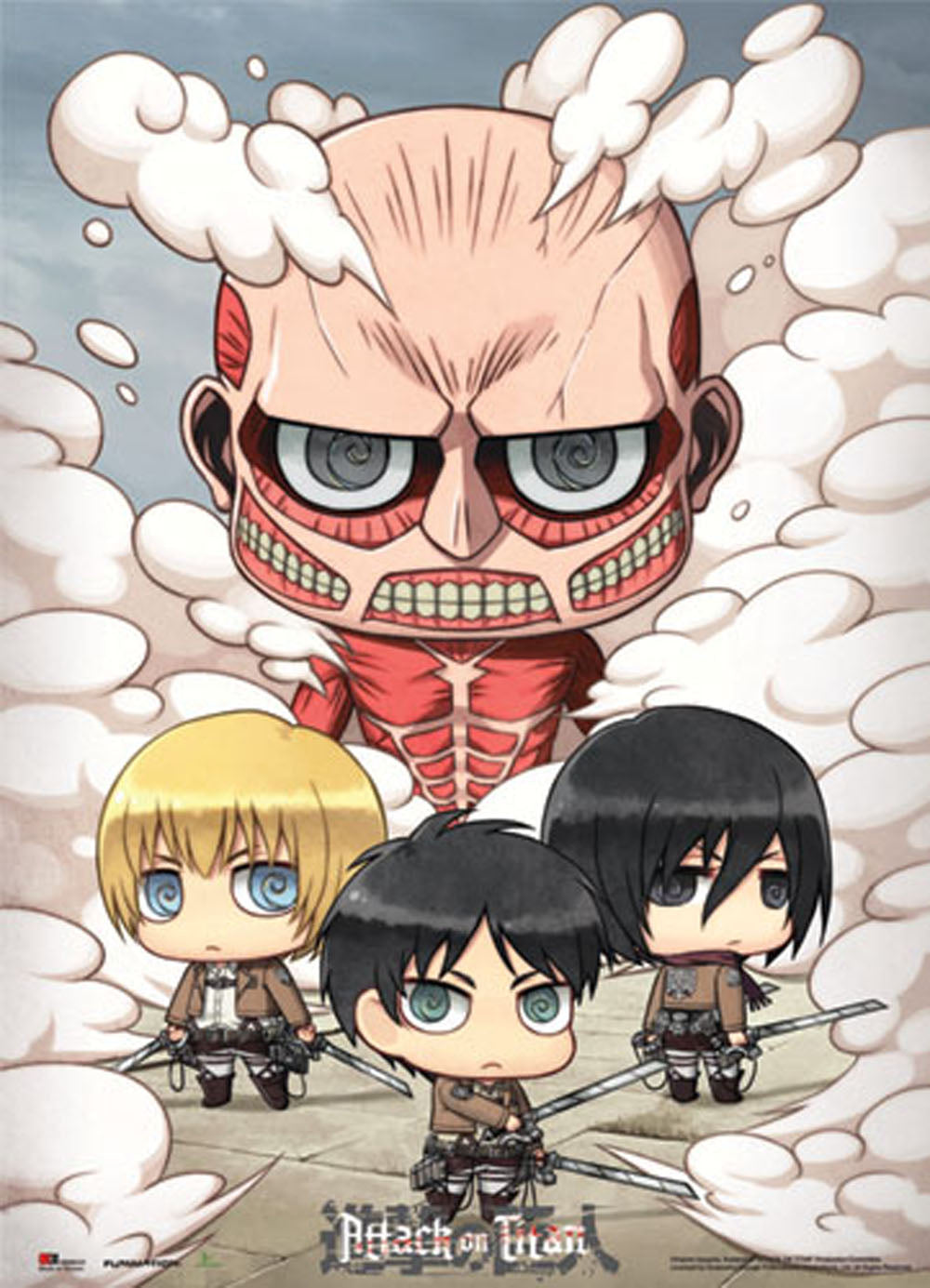Attack on Titan Sd Group wall scroll