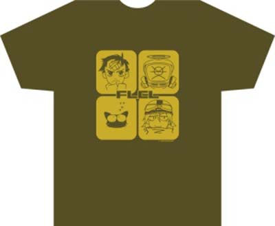 FLCL (Fooly Cooly) Squared T-Shirt