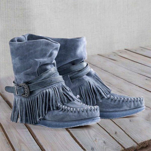Fringe Badge Casual All Seasons Boots