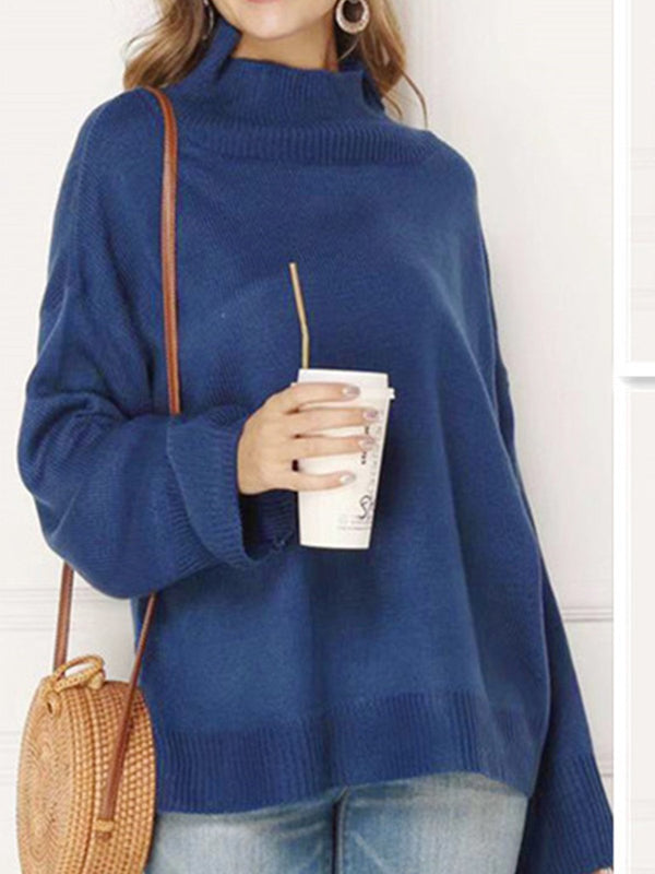 Solid Thick Turtleneck Sweater