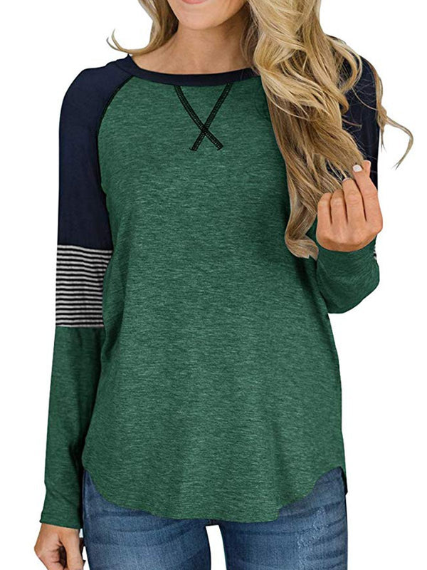 Long  Sleeve Crew Neck Casual T-Shirt