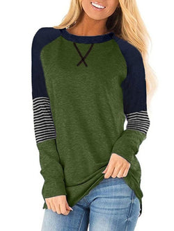 Long Sleeve Solid Casual T-Shirt