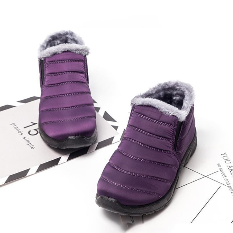 Women Flocking Warm Ankle Snow Booties Casual Shoes