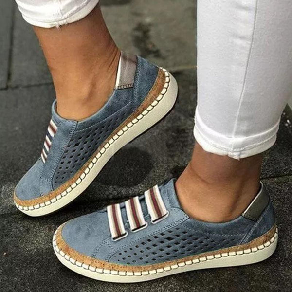 Hollow Flat Heels Adjustable Casual Women Sneakers