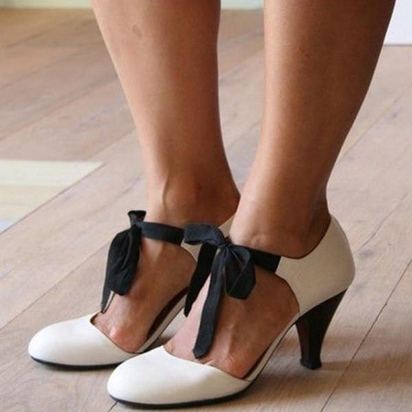 Chic Elegant Color Block Bowknot High Heels Round Toe Sandals