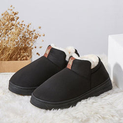 Plus Velour Lining Slip-On Warm Autumn/Winter Ankle Boots