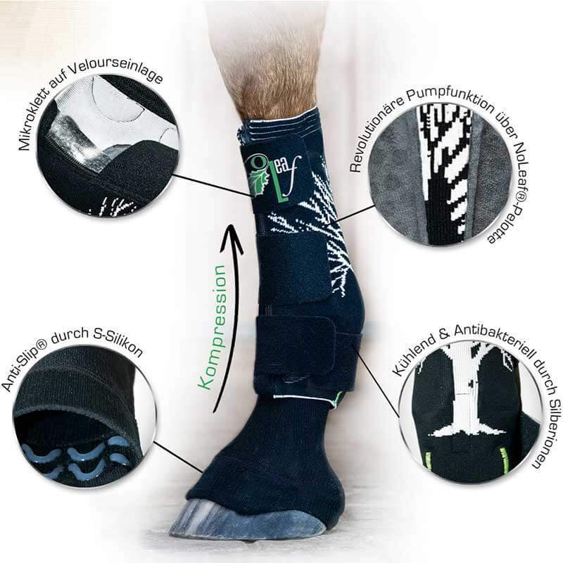 NoLeaf.comPress® Equi - compressiekousen