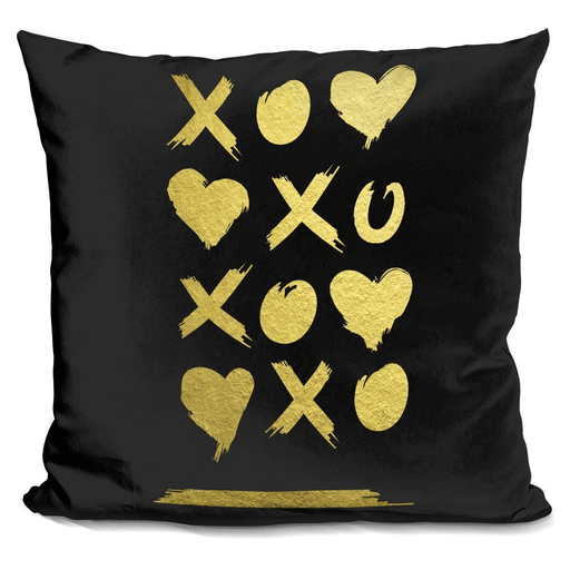 Amour Tic Tac Toe On Black Pillow-Product-BestEver4U