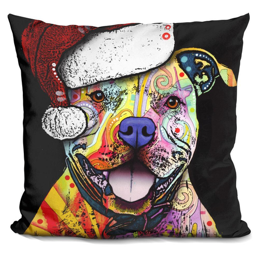 Beware Of Pit Bulls Christmas Edition Decorative Pillow - BestEver4U