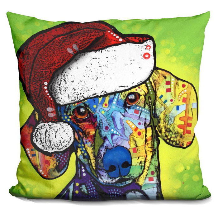 Dachshund Christmas Pillow-Product-BestEver4U