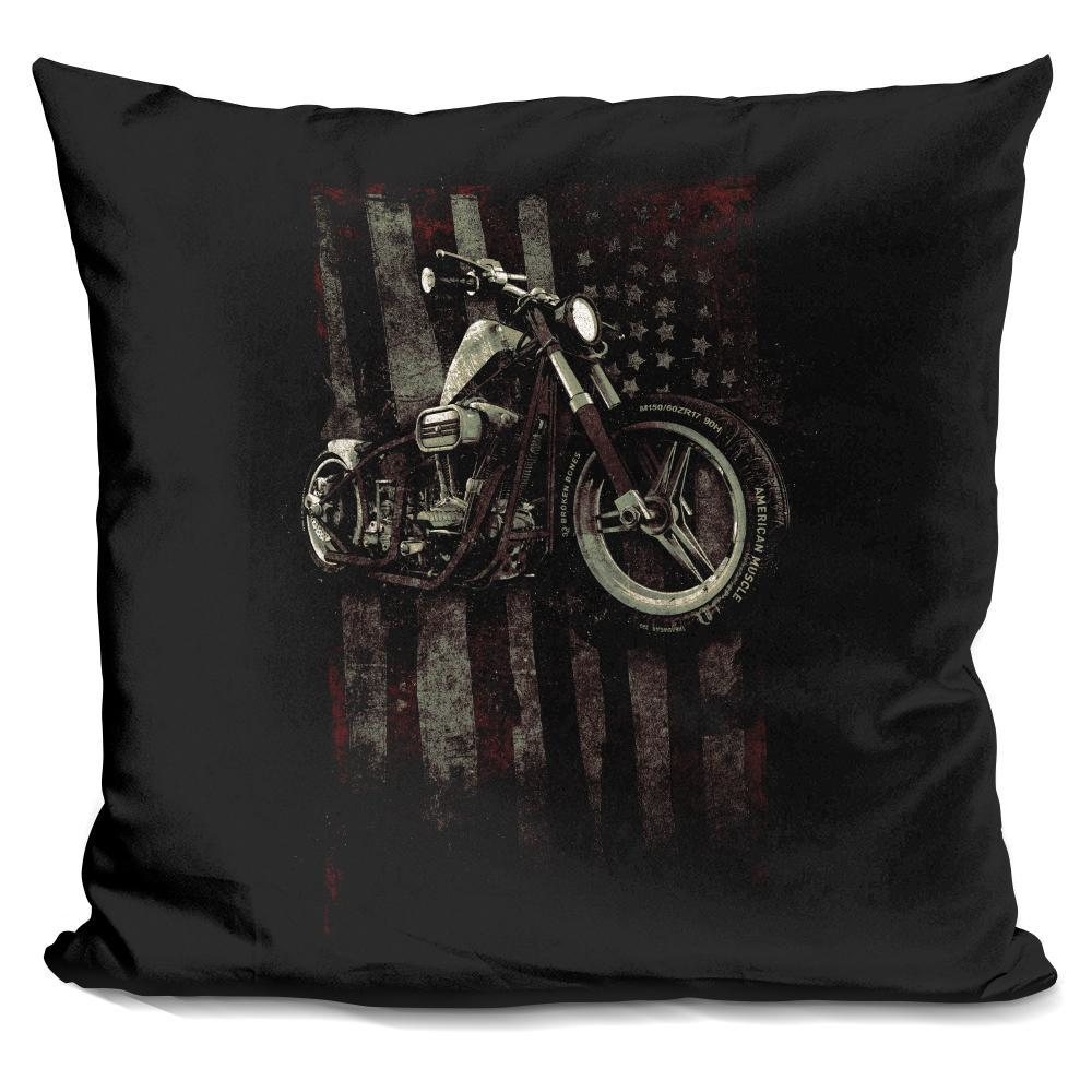 American Muscle Motorcycle I Pillow - BestEver4U