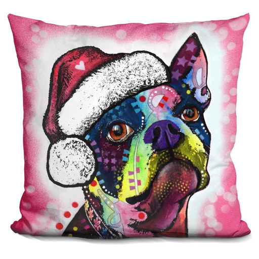 Boston Terrier Christmas Pillow-Product-BestEver4U