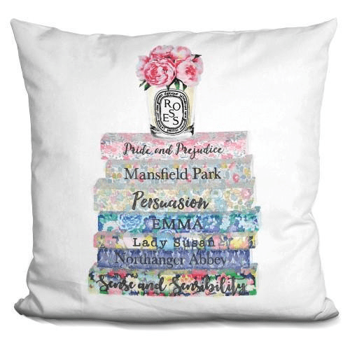 Austin Books Candle Pink Peony Pillow-Product-BestEver4U