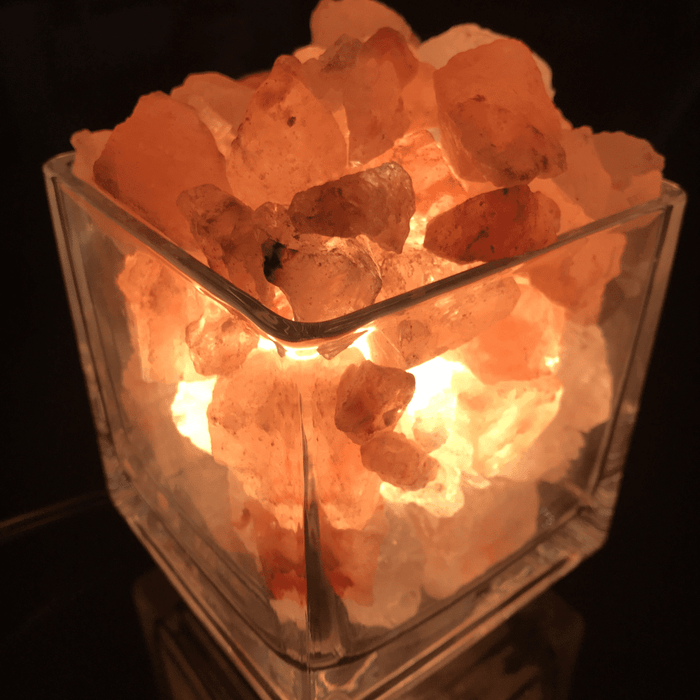 Best Christmas Gift Clear Square Himalayan Salt Lamp - BestEver4U