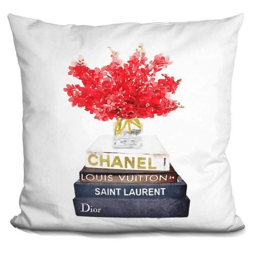 Book Satck Red Flowers Pillow-Product-BestEver4U
