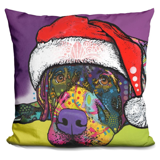 Savvy Labrador Christmas Pillow-Product-BestEver4U