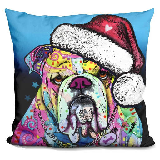 The Bulldog Christmas Pillow-Product-BestEver4U