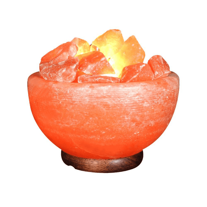 Himalayan Crystal Salt Fire Bowl Lamp-Product-BestEver4U
