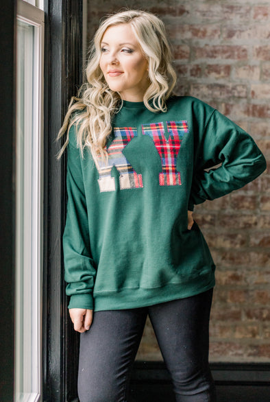 Flannel STATE Applique Sweatshirt