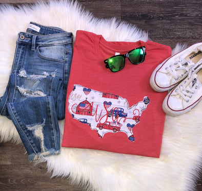 USA Applique Tee