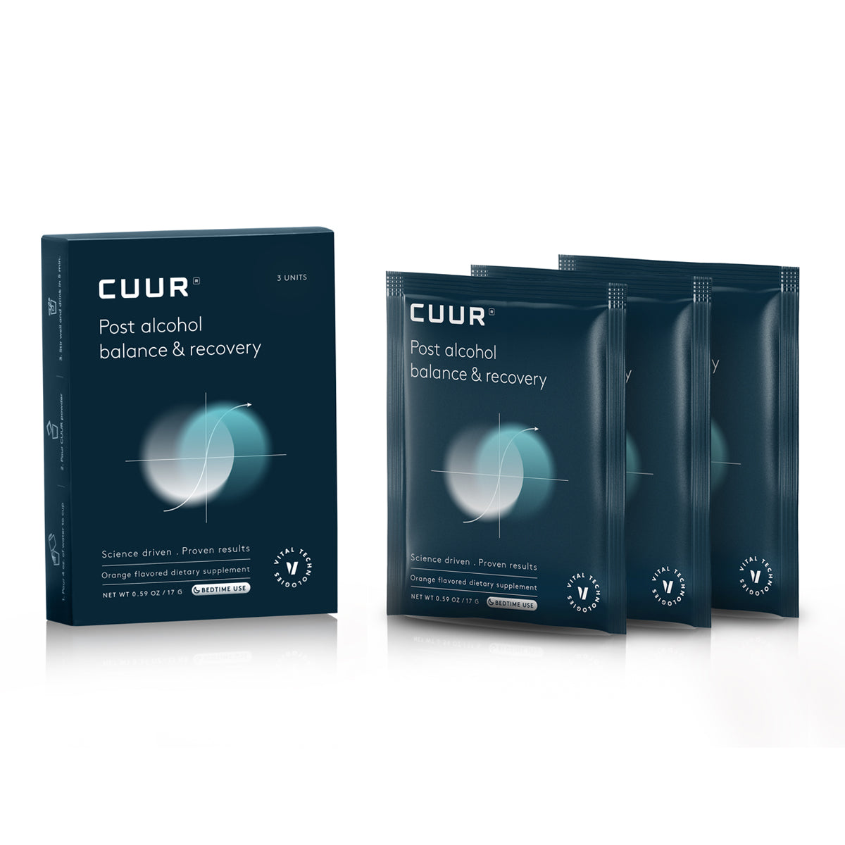 CUUR is the first formula to effectively hack alcohol negative effects on your body