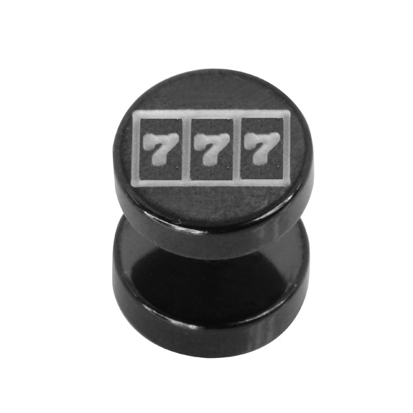 BRU58 FAKE PLUG WITH WIN DESIGN 1 * 5 * 10 COLOR BLACK/STEEL