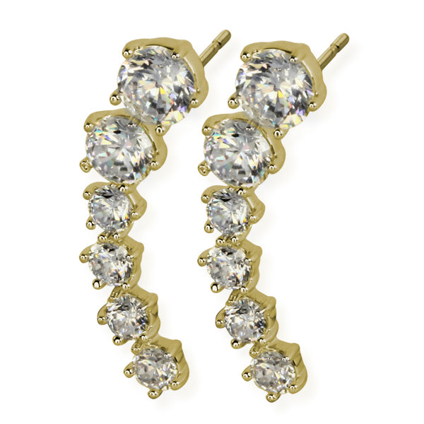 TES37 EARRING WITH JEWEL DESIGN 24.7 * 6 * 0.7