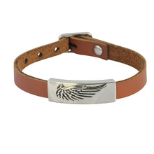 Load image into Gallery viewer, BSS605 STAINLESS STEEL LEATHER BRACELET