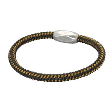 Load image into Gallery viewer, BSS652 S.S LEATHER BRACELET