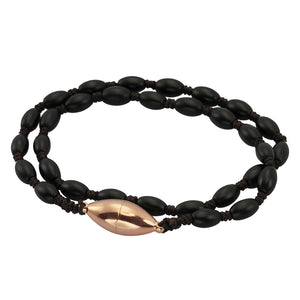 BSS672 STAINLESS STEEL GLASS STONE BRACELET