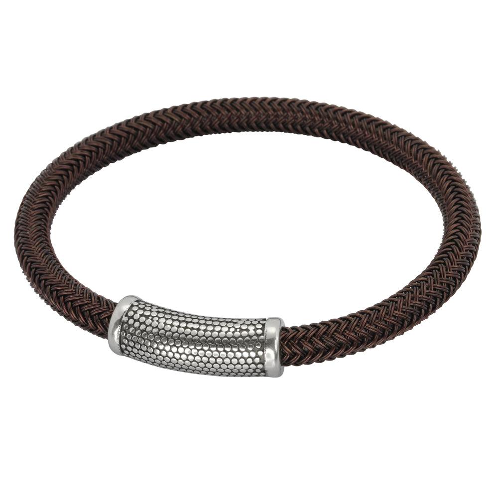 BSS673 STAINLESS STEEL CABLE BRACELET
