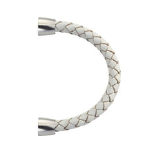 Load image into Gallery viewer, BSS675 STAINLESS STEEL LEATHER HALF BRACELET