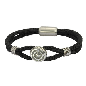 MBSS01 NYLON BRACELET WITH S.S CLOSURE AND PART