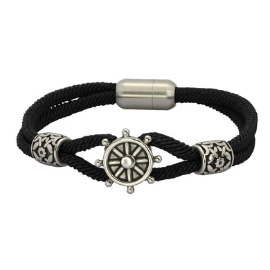 MBSS02 NYLON BRACELET WITH S.S CLOSURE AND PART