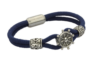 MBSS02 NYLON BRACELET WITH STAINLESS STEEL CLOSURE AND PART