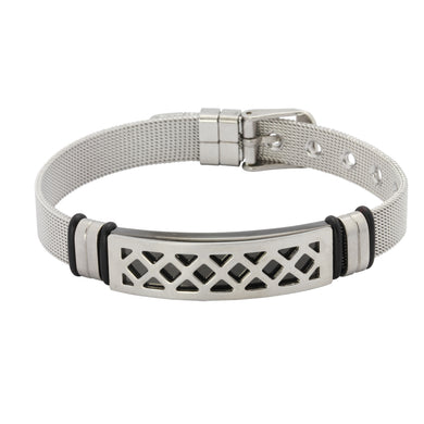 MBSS08  STAINLESS STEEL BRACELET WITH SCREW DESIGN