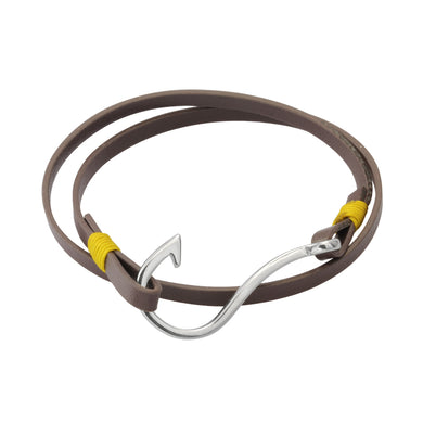 MBSS10 LEATHER BRACELET WITH S.S CLOSURE