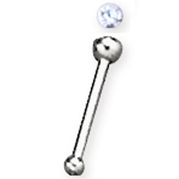 ABN1 NOSE STUD WITH JEWELLED BALL