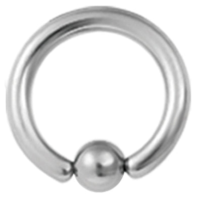 ADBCR TITANIUM BALL CLOSURE RING COLOR STEEL