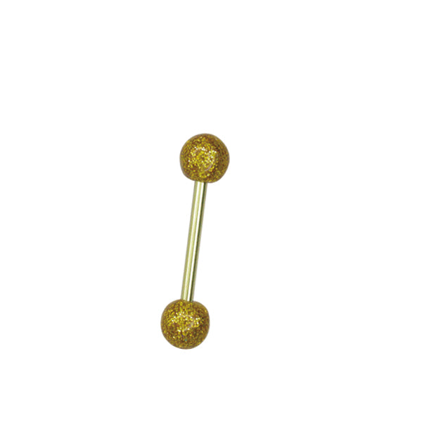 AZRB BARBELL W/ U.V BALL W/ ZIRCON